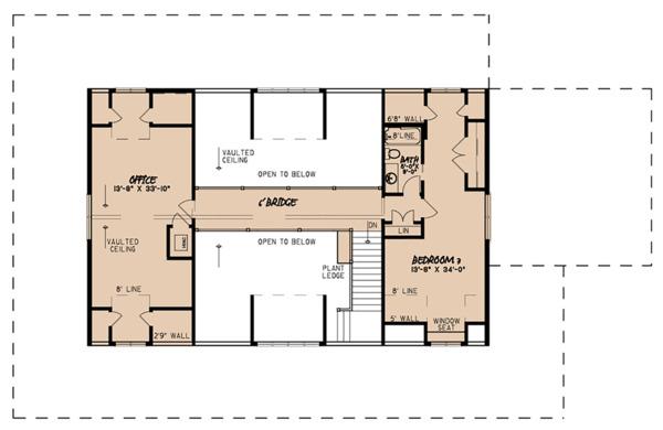 Country Floor Plan - Upper Floor Plan #923-126