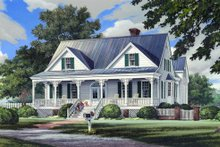 Dream House Plan - Southern Exterior - Front Elevation Plan #137-265