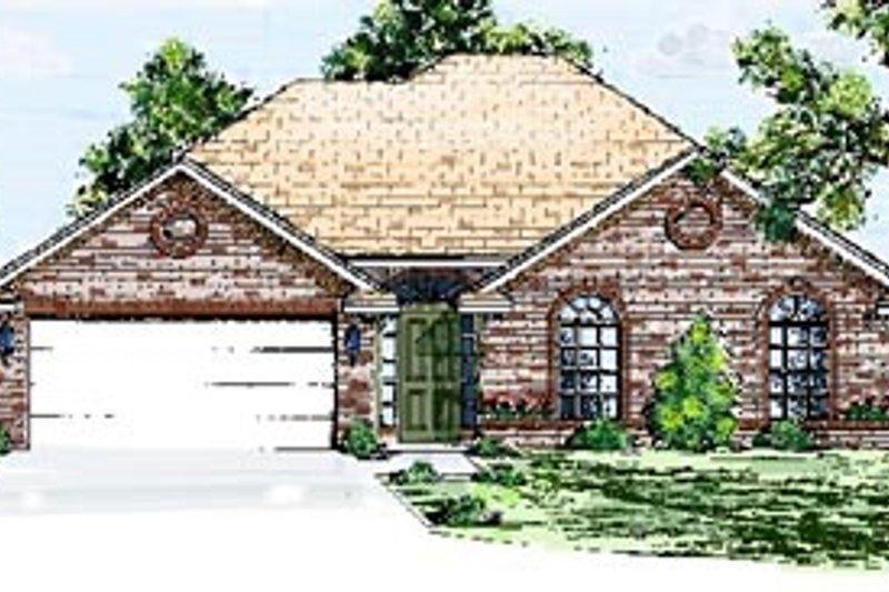European Style House Plan - 3 Beds 2 Baths 1481 Sq/Ft Plan #52-108
