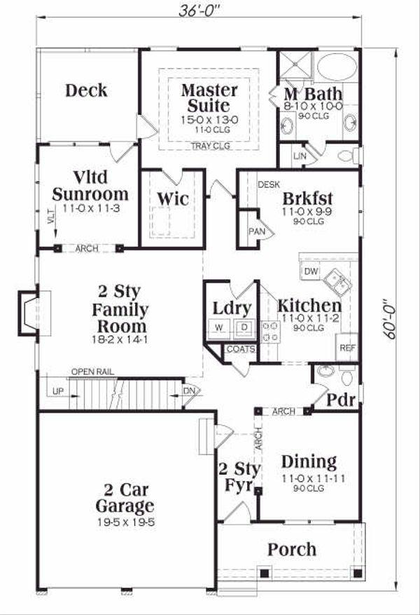 Tudor Floor Plan - Main Floor Plan Plan #419-139