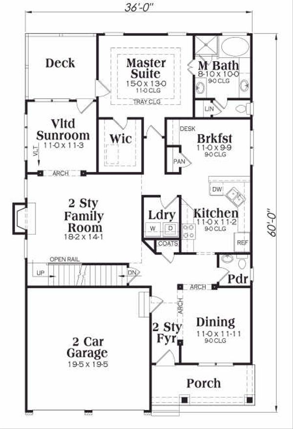 Tudor Floor Plan - Main Floor Plan #419-139