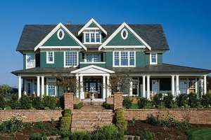 Colonial Exterior - Front Elevation Plan #48-151