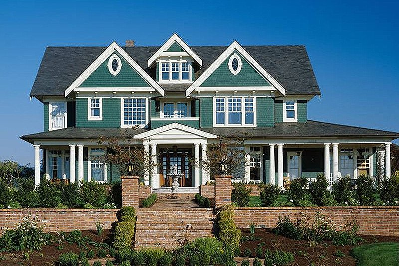 Colonial Style House Plan - 6 Beds 5 Baths 5180 Sq/Ft Plan #48-151
