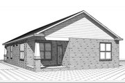 Craftsman Style House Plan - 3 Beds 2 Baths 1558 Sq/Ft Plan #63-386 Exterior - Rear Elevation