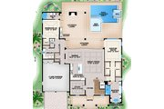Traditional Style House Plan - 5 Beds 5.5 Baths 6027 Sq/Ft Plan #27-555 Floor Plan - Main Floor Plan