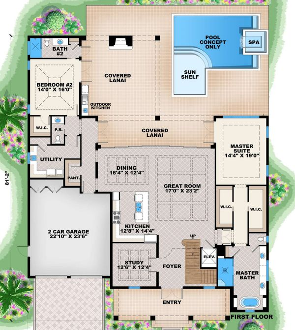Traditional Floor Plan - Main Floor Plan Plan #27-555