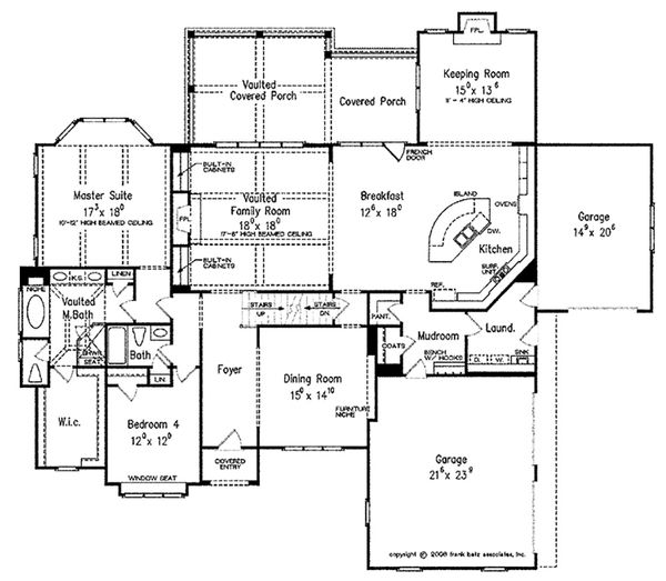 European Floor Plan - Main Floor Plan Plan #927-31