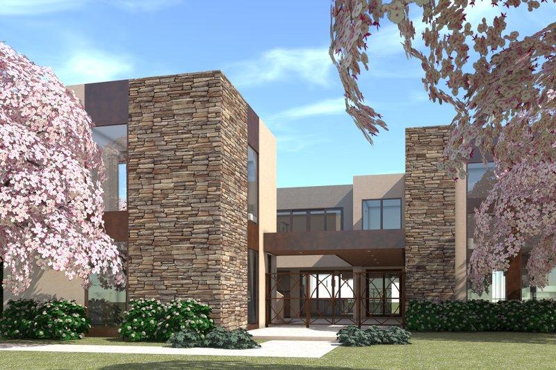 Modern Exterior - Front Elevation Plan #64-236 - Houseplans.com