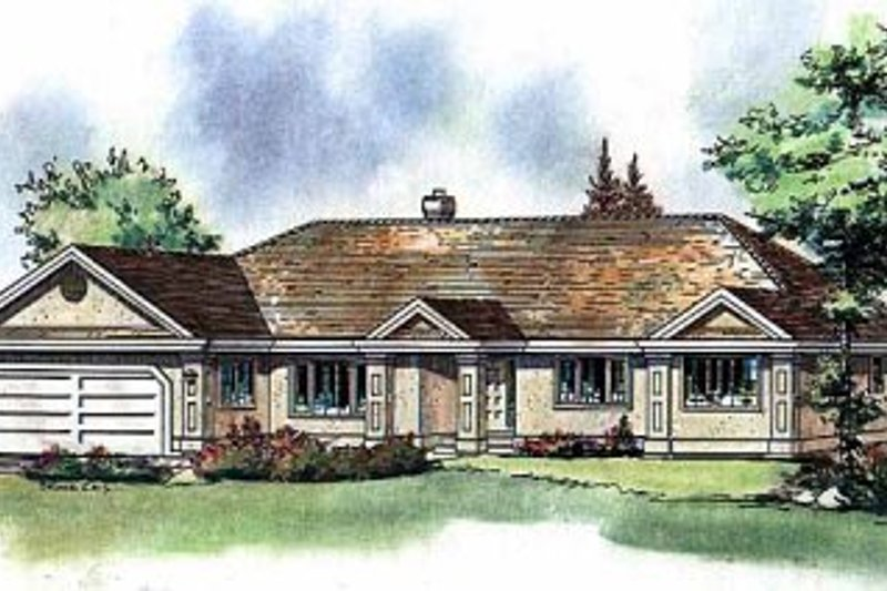 Ranch Exterior - Front Elevation Plan #18-106