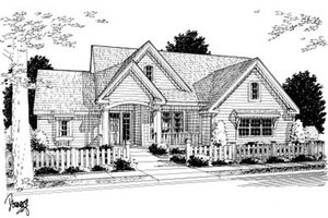 Dream House Plan - Farmhouse Exterior - Front Elevation Plan #20-2035