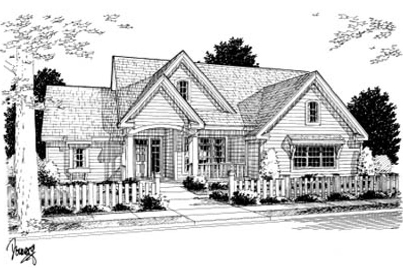 Home Plan - Farmhouse Exterior - Front Elevation Plan #20-2035