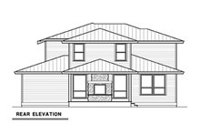 House Plan Design - Contemporary Exterior - Rear Elevation Plan #1070-18