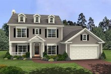 Southern Exterior - Front Elevation Plan #56-233
