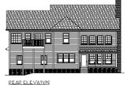 Country Style House Plan - 5 Beds 5 Baths 2698 Sq/Ft Plan #56-544 Exterior - Rear Elevation