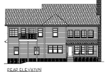 Home Plan - Country Exterior - Rear Elevation Plan #56-544