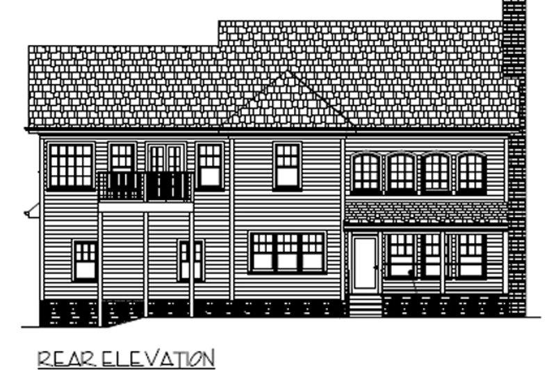 Country Exterior - Rear Elevation Plan #56-544 - Houseplans.com