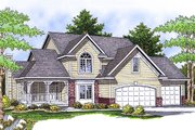 Country Style House Plan - 4 Beds 3.5 Baths 2372 Sq/Ft Plan #70-599 Exterior - Front Elevation