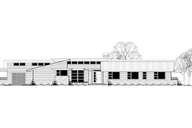 Modern Exterior - Front Elevation Plan #48-481