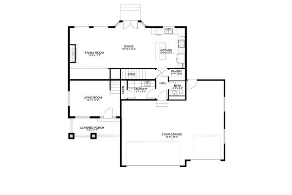Dream House Plan - Craftsman Floor Plan - Main Floor Plan #1060-66