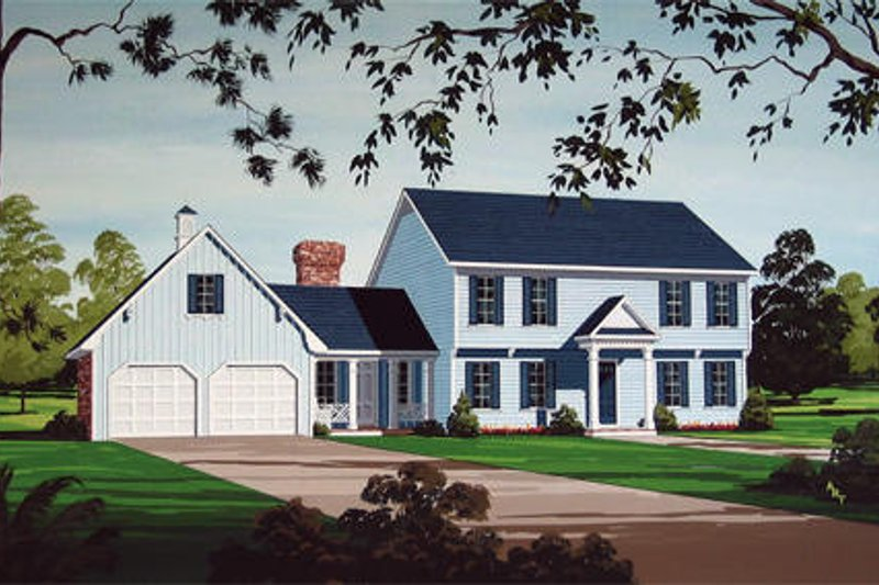 Country Style House Plan - 4 Beds 3 Baths 2548 Sq/Ft Plan #45-360 Exterior - Front Elevation