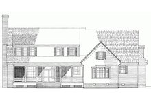 Dream House Plan - Country Exterior - Rear Elevation Plan #137-175