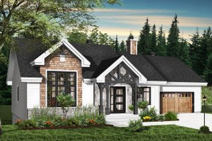 Ranch Exterior - Front Elevation Plan #23-2665