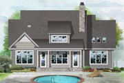 Cottage Style House Plan - 3 Beds 2 Baths 1948 Sq/Ft Plan #929-1084 Exterior - Rear Elevation