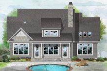 Cottage Exterior - Rear Elevation Plan #929-1084