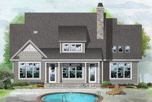 Cottage Exterior - Rear Elevation Plan #929-1084
