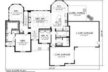 Ranch Floor Plan - Main Floor Plan Plan #70-1086
