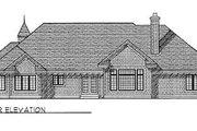 European Style House Plan - 3 Beds 3.5 Baths 2896 Sq/Ft Plan #70-463 Exterior - Rear Elevation