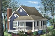 Cottage Style House Plan - 1 Beds 1 Baths 613 Sq/Ft Plan #25-4190 Exterior - Front Elevation