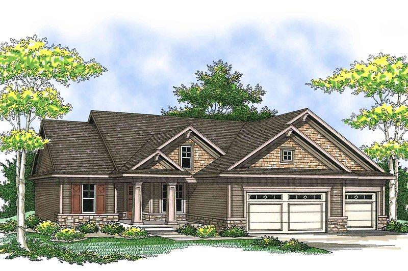Architectural House Design - Bungalow Exterior - Front Elevation Plan #70-901