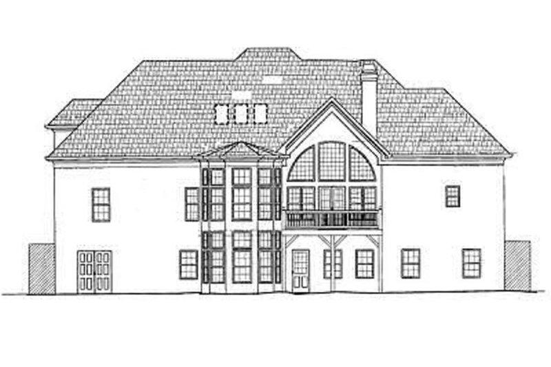 European Exterior - Rear Elevation Plan #119-257 - Houseplans.com