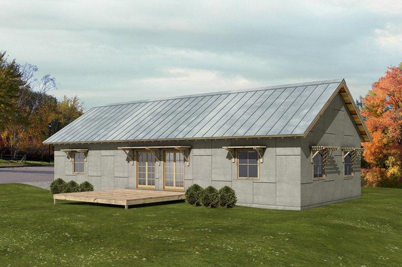 Home Plan - Modern, Front elevation
