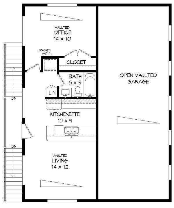 Contemporary Floor Plan - Upper Floor Plan Plan #932-71