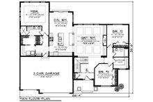 Craftsman Floor Plan - Main Floor Plan Plan #70-1215