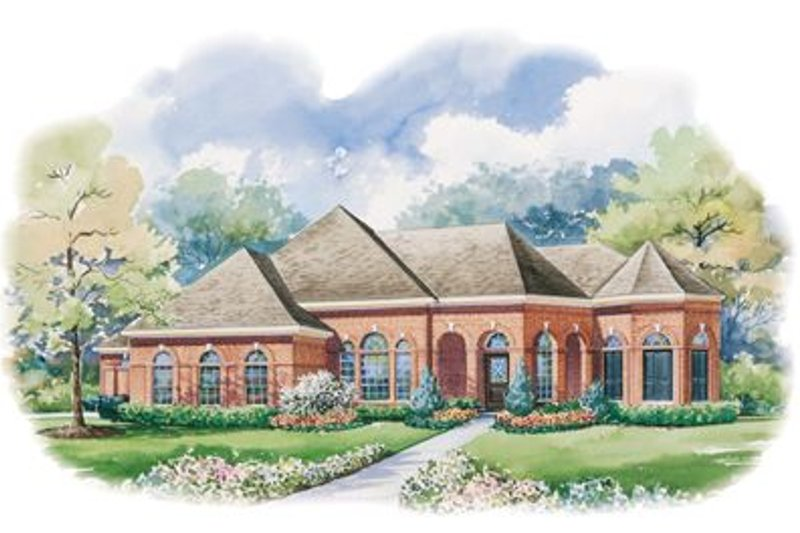 European Exterior - Front Elevation Plan #20-1159 - Houseplans.com