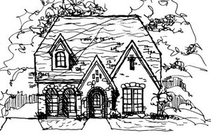 European Exterior - Front Elevation Plan #141-371