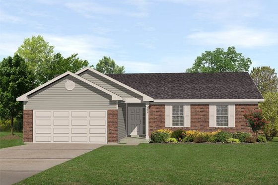 Ranch Exterior - Front Elevation Plan #22-103