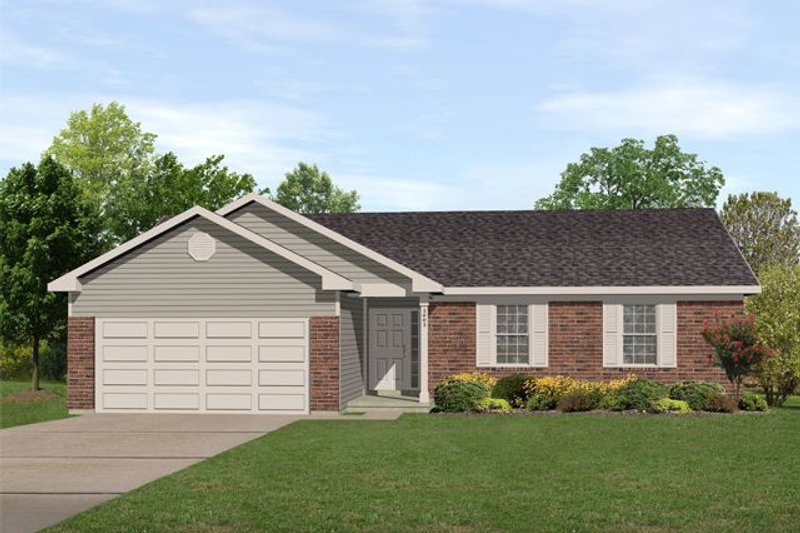 Home Plan - Ranch Exterior - Front Elevation Plan #22-103