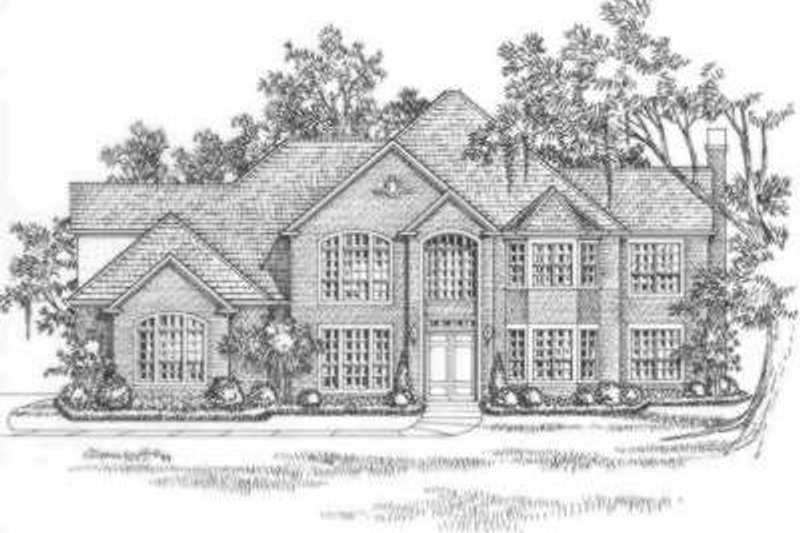 European Exterior - Front Elevation Plan #325-269