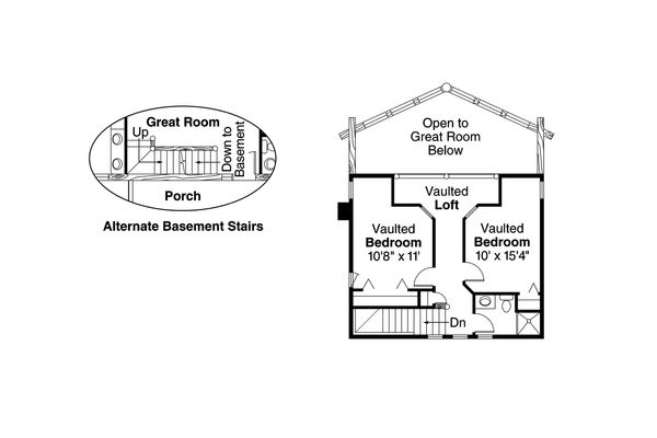 Contemporary Floor Plan - Upper Floor Plan Plan #124-264