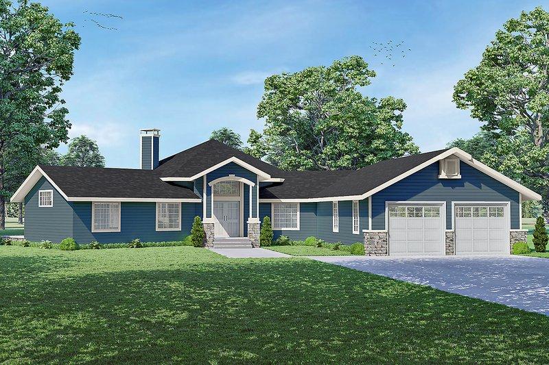 House Plan Design - Craftsman Exterior - Front Elevation Plan #124-1264