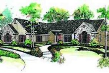 House Blueprint - Ranch Exterior - Front Elevation Plan #72-213