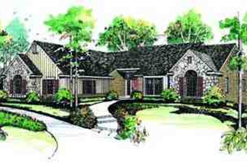Ranch Exterior - Front Elevation Plan #72-213 - Houseplans.com