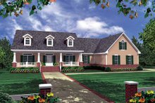 Dream House Plan - Country Exterior - Front Elevation Plan #21-188