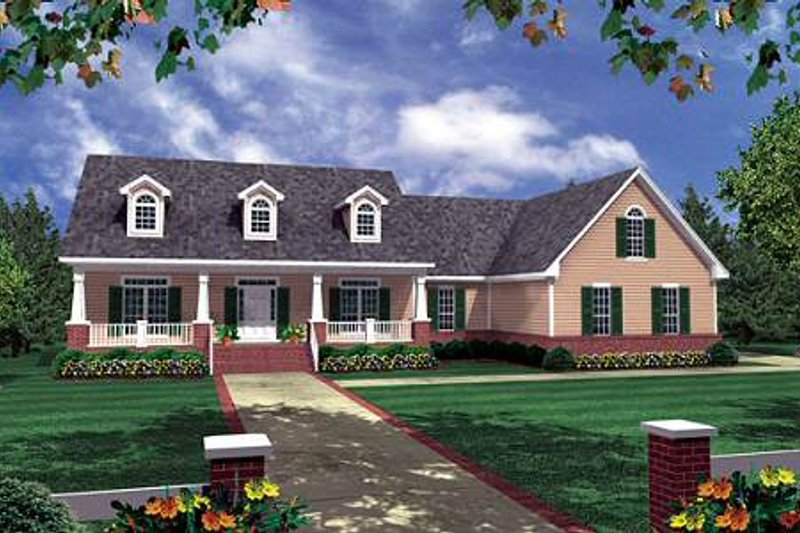 Country Exterior - Front Elevation Plan #21-188 - Houseplans.com