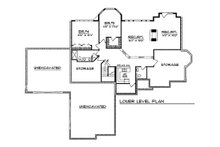 European Floor Plan - Lower Floor Plan Plan #70-370