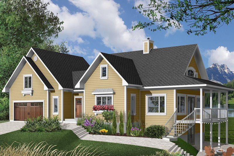 Dream House Plan - Traditional Exterior - Front Elevation Plan #23-391